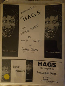$5 PUNK FLYER - HAGS WHITE RABBIT