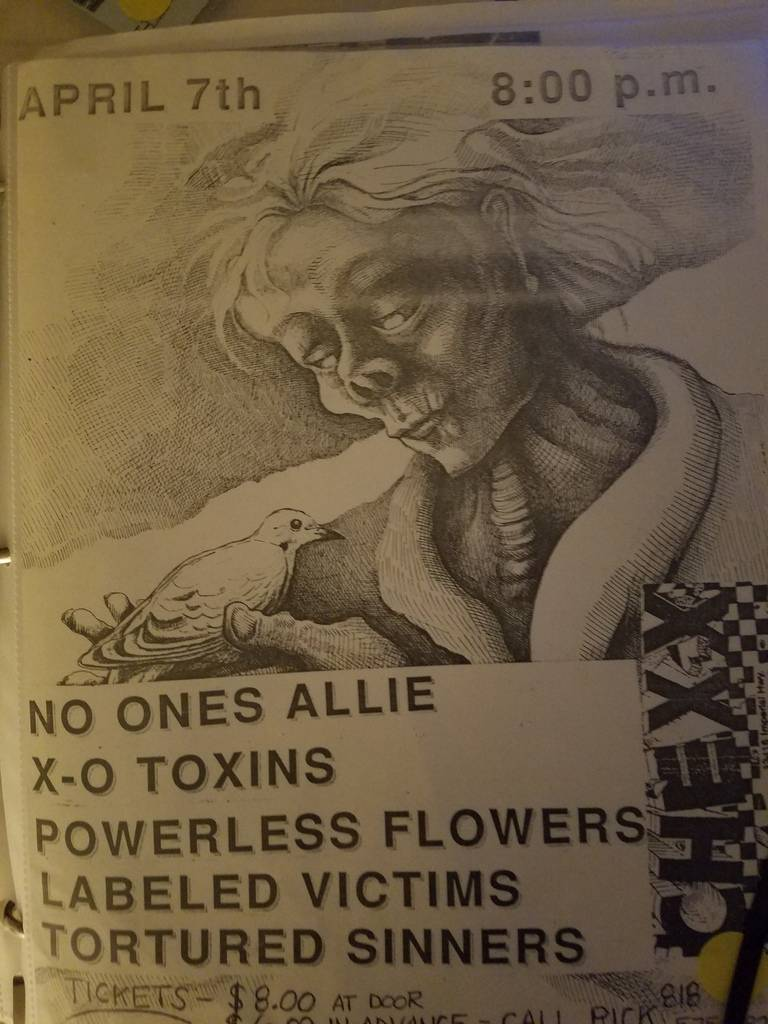$5 PUNK FLYER - NO ONES ALLIE