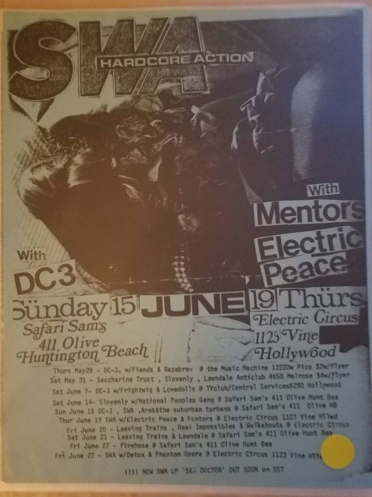 $5 PUNK FLYER - SWA MENTORS ELECTRIC PEACE