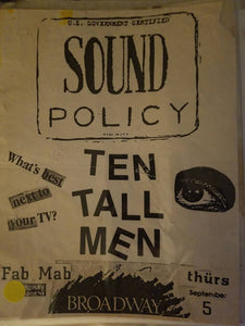 $5 PUNK FLYER - TEN TALL MEN