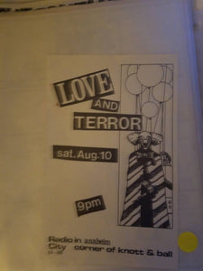 $5 PUNK FLYER - LOVE AND TERROR