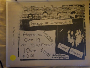 $5 PUNK FLYER - GROUP OF INDIVIDUALS TRAIN KILLERS