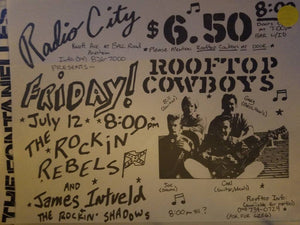 $5 PUNK FLYER - ROCKIN' REBELS ROOFTOP COWBOYS