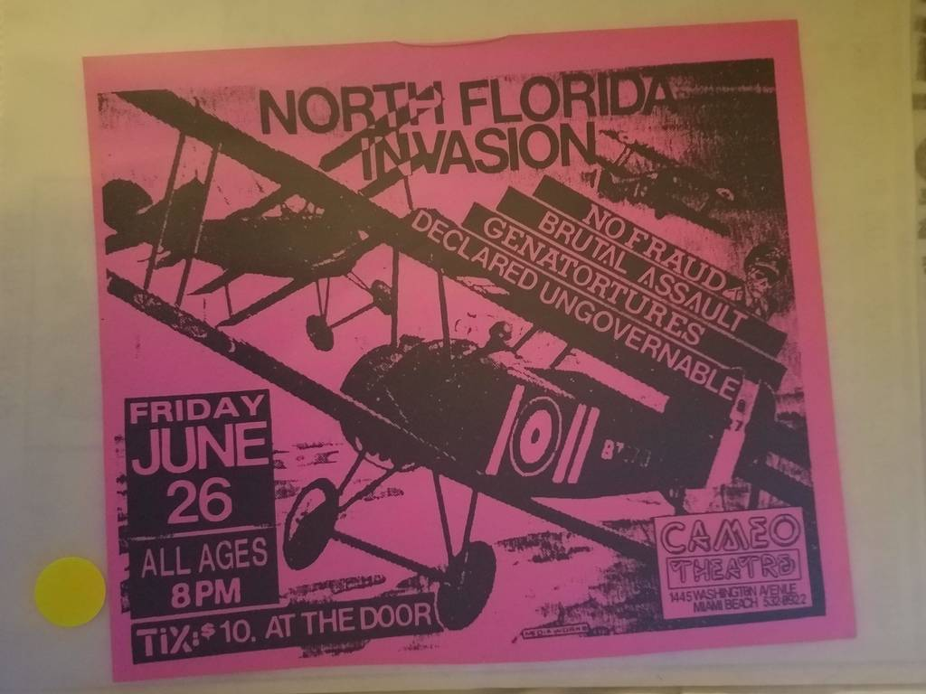 $5 PUNK FLYER - NO FRAUD BRUTAL ASSAULT GENATORTURES