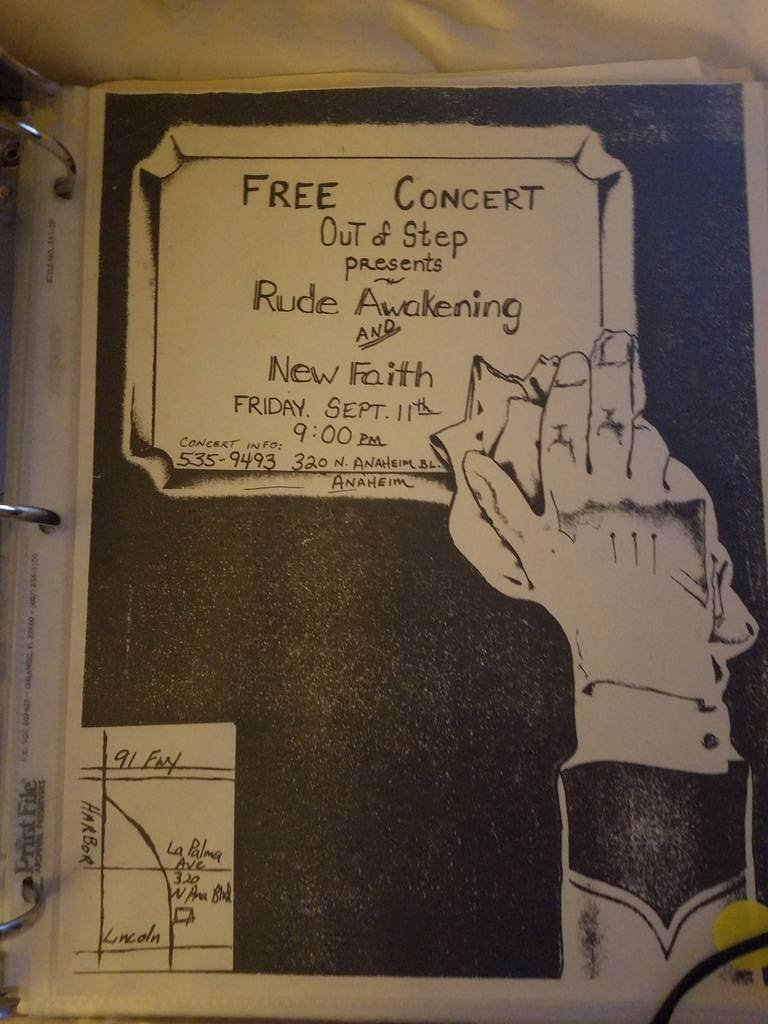 $5 PUNK FLYER - RUDE AWAKENING NEW FAITH