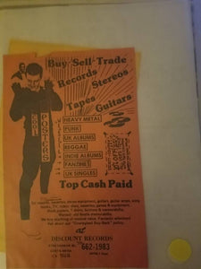 $5 PUNK FLYER - DISCOUNT RECORDS