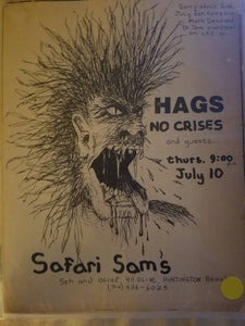 $5 PUNK FLYER - HAGS NO CRISES