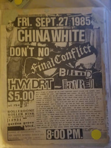 $5 PUNK FLYER - CHINA WHITE DON'T NO FINAL CONFLICT
