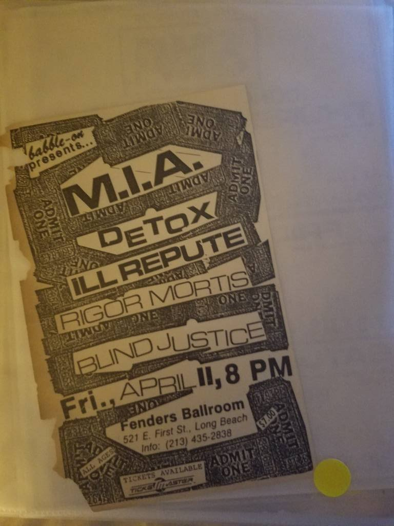 $5 PUNK FLYER - MIA DETOX ILL REPUTE