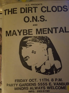 $5 PUNK FLYER - DIRT CLODS O.N.S.
