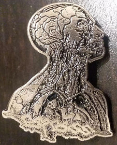 CARCASS HEAD METAL BADGE
