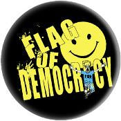 FLAG OF DEMOCRACY button