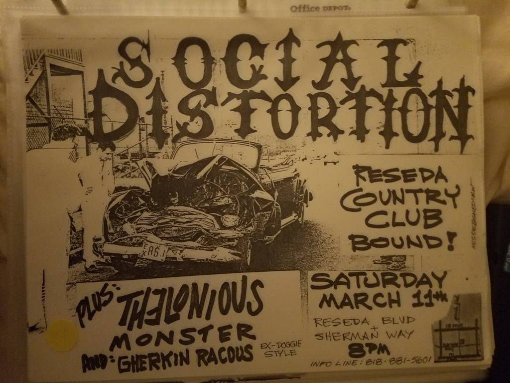 $20 PUNK FLYER - SOCIAL DISTORTION