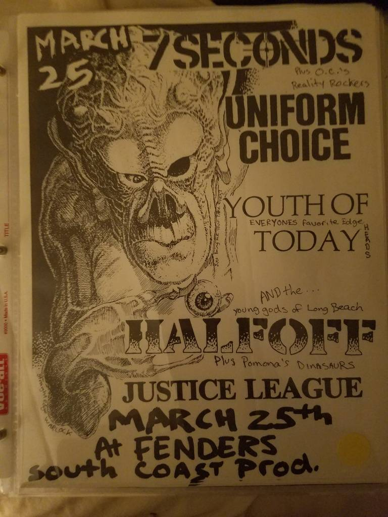 $20 PUNK FLYER - 7 SECONDS UNIFORM CHOICE YOUTH OF TODAY