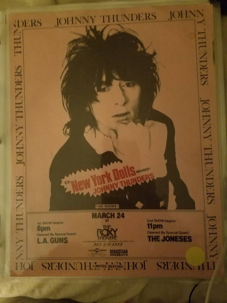 $20 PUNK FLYER - JOHNNY THUNDERS LA GUNS