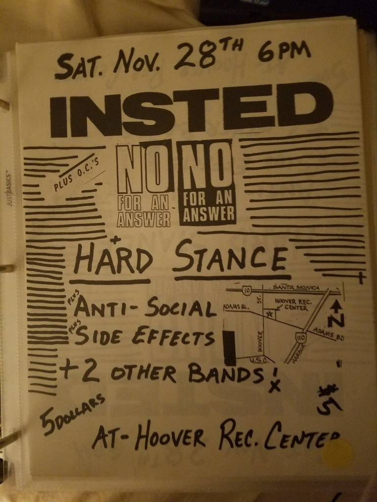 $20 PUNK FLYER - INSTED