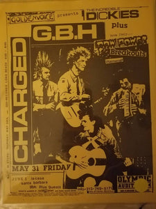 $20 PUNK FLYER - GBH DICKIES RAW POWER