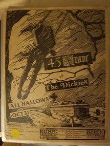 $20 PUNK FLYER - 45 GRAVE DICKIES