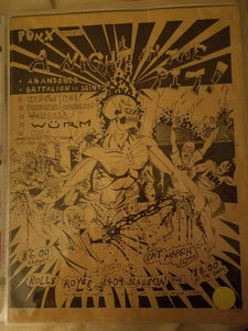 $20 PUNK FLYER - ABANDONED BATTALION OF SAINTS VANDALS