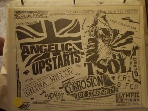 $20 PUNK FLYER - ANGELIC UPSTARTS TSOL CORROSION OF CONFORMITY