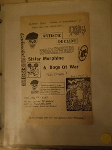 $20 PUNK FLYER ARTISTIC DECLINE SISTER MORPHINE DOGS OF WAR