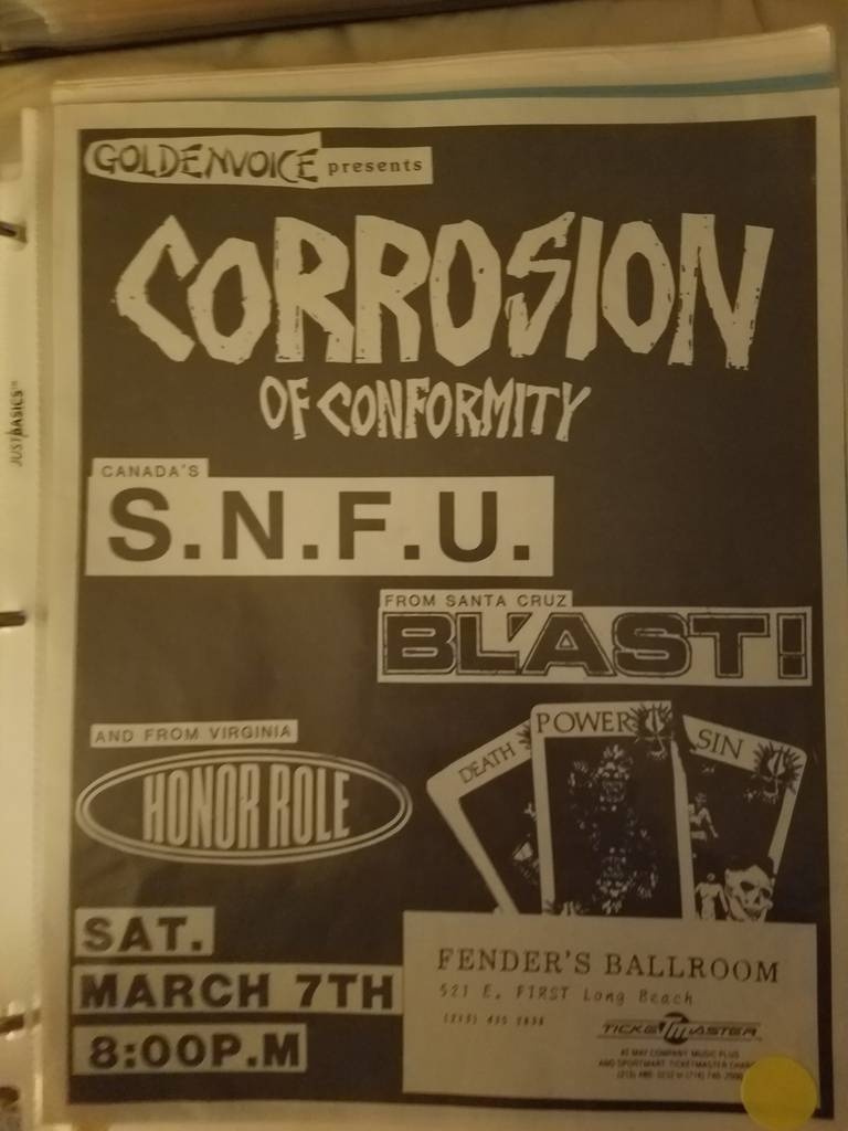$20 PUNK FLYER - CORROSION OF CONFORMITY SNFU