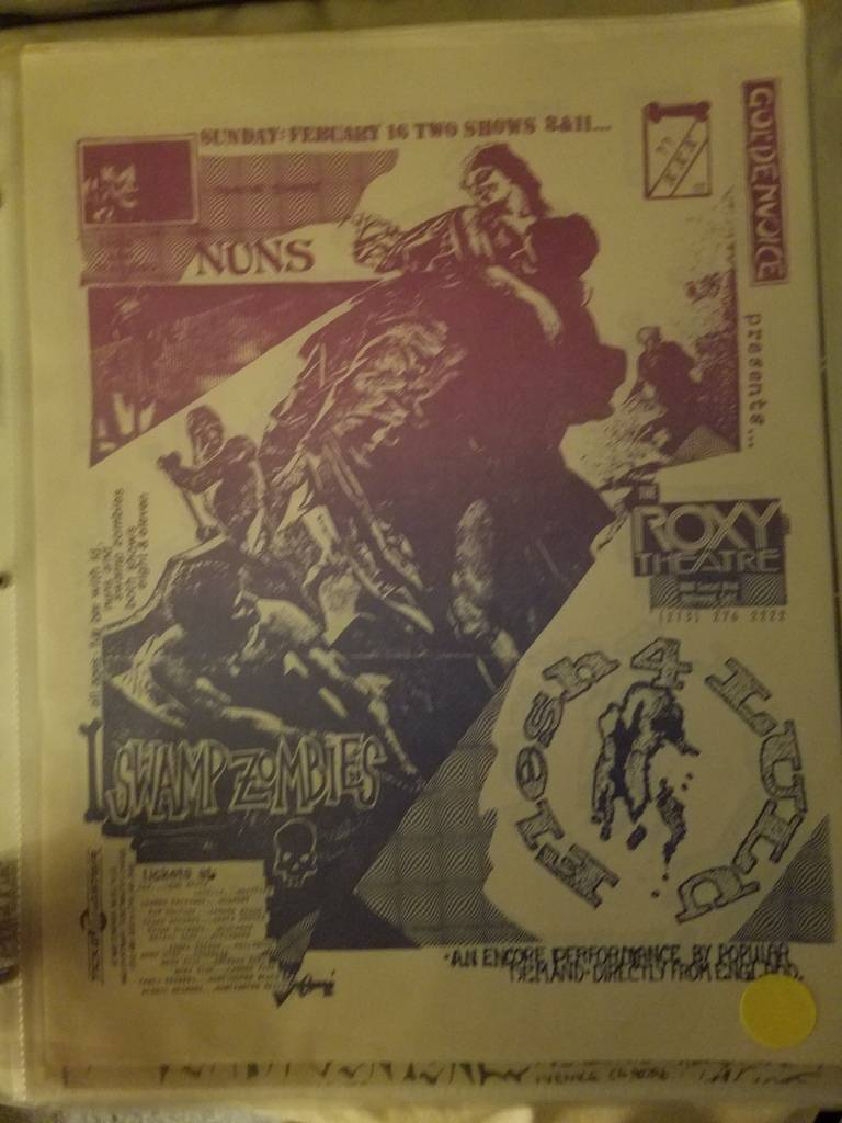 $20 PUNK FLYER - NUNS SWAMP ZOMBIES