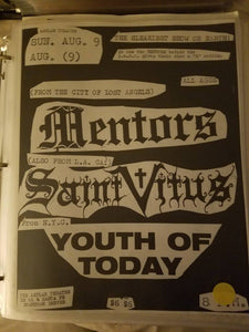 $20 PUNK FLYER - MENTORS SAINT VITUS YOUTH OF TODAY