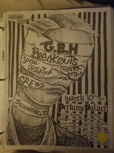 $20 PUNK FLYER - GBH SOCIAL DISTORTION