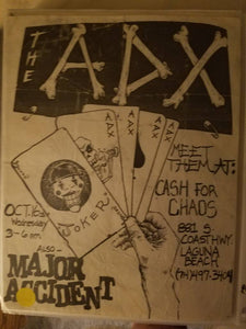 $20 PUNK FLYER - ADX ADICTS MAJOR ACCIDENT