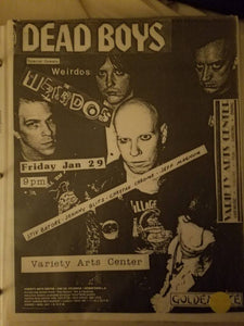 $20 PUNK FLYER - DEAD BOYS WEIRDOS