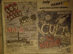 $20 PUNK FLYER - TOY DOLLS METEORS MIA CULT