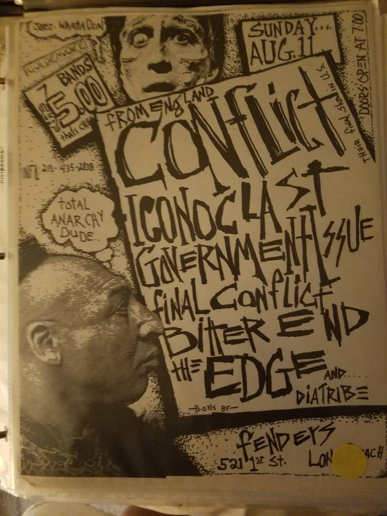 $20 PUNK FLYER - CONFLICT ICONOCLAST GOVERNMENT ISSUE