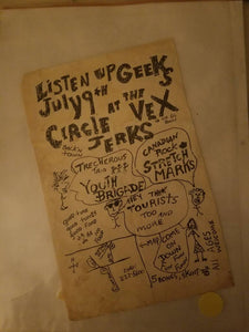 $20 PUNK FLYER - CIRCLE JERKS YOUTH BRIGADE
