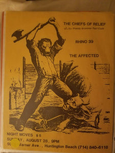 $20 PUNK FLYER - CHIEFS OF RELIEF RHINO 39