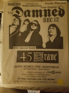 $20 PUNK FLYER - DAMNED 45 GRAVE
