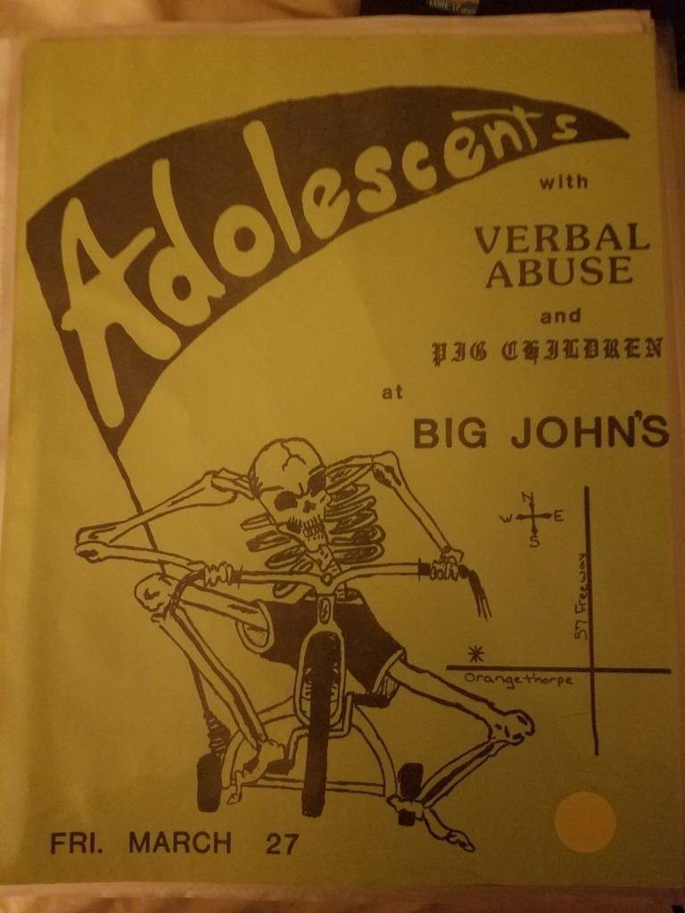 $20 PUNK FLYER - ADOLESCENTS VERBAL ABUSE