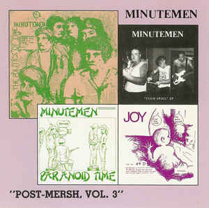 Minutemen - Post Mersh Volume 3 NEW CD