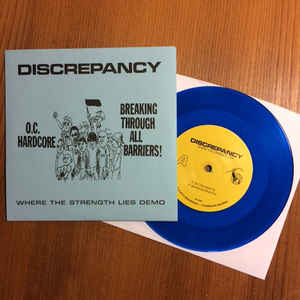 Discrepancy - Where The Strength Lies Demo USED 7""