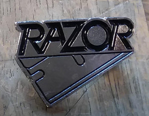 RAZOR LOGO METAL BADGE