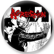AGRESSION  SKULL button