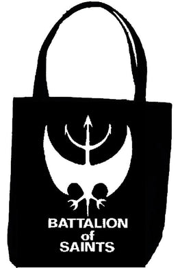 BATTALION OF SAINTS LOGO tote