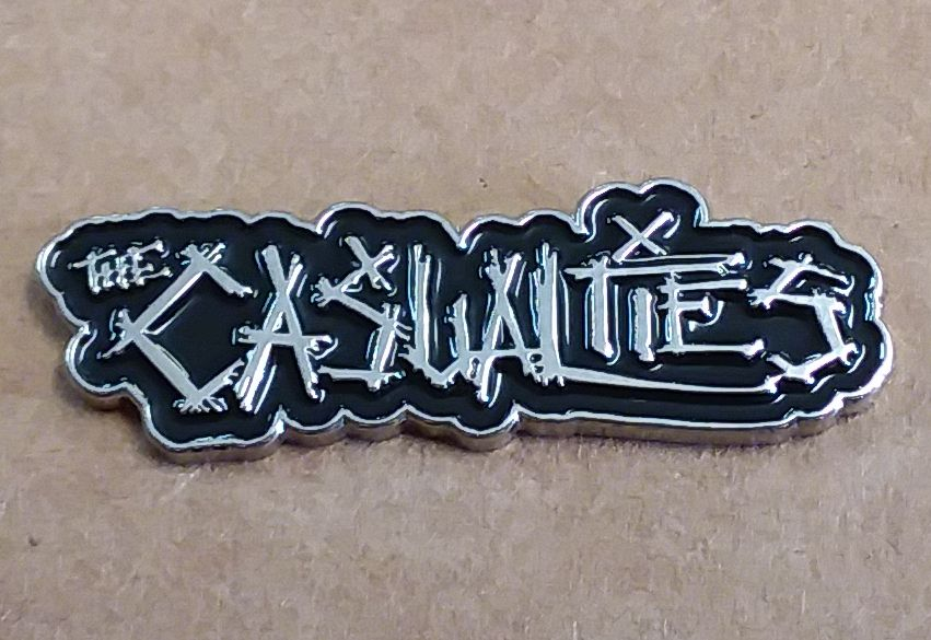 CASUALTIES LOGO ENAMEL BADGE