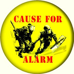 CAUSE FOR ALARM button