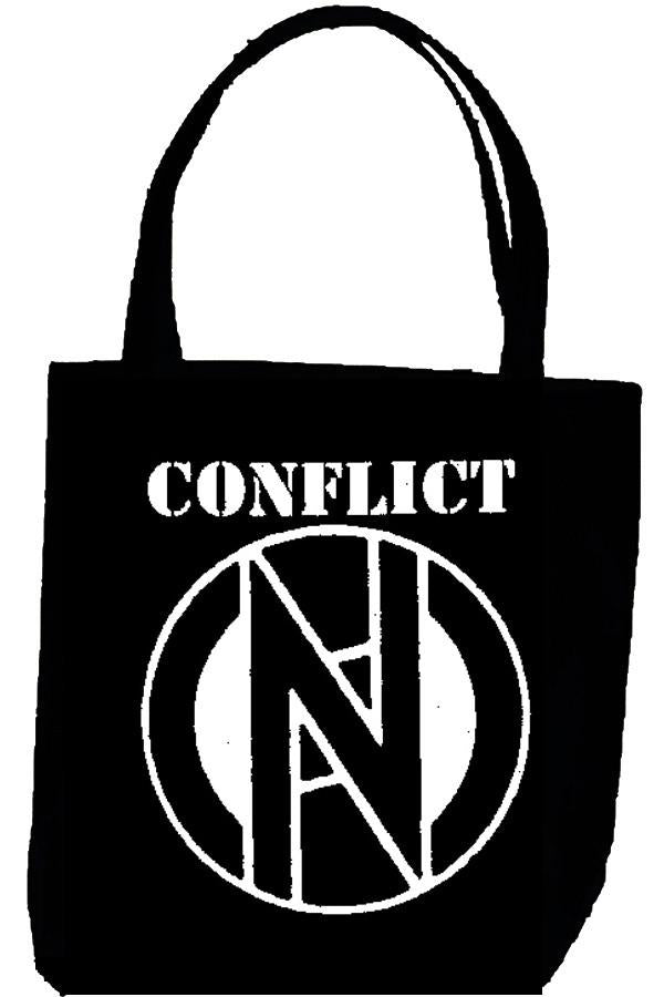 CONFLICT LOGO tote