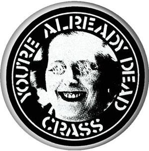 CRASS ALREADY DEAD button
