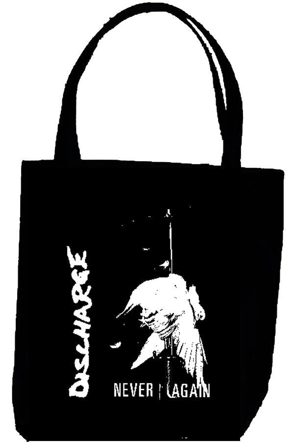 DISCHARGE NEVER tote