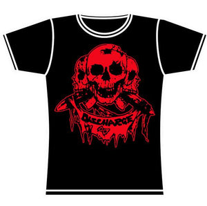 DISCHARGE SKULLS GIRLS TSHIRT