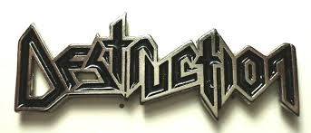 DESTRUCTION LOGO METAL BADGE