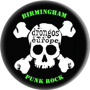 DRONGOS FOR EUROPE SKULL button